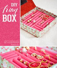 DIY Craft Projects: The Decorista Chronicles//DIY Ring Box! (I know this is girly, but you can make it manly and use it to make the cuff links box!)