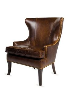 Griffin Chair by Benchmade by Brownstone on Gilt Home  Measures 34 inches in width by 32 inches in depth by 40 inches in height