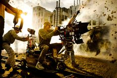 Michael Bay on the Set of Transformers 4 The Age of Extinction | Flickr - Photo Sharing!