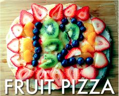 Fruit Pizza_The Nesting Game, remember having this with Miss Christy, oh so long ago. Need to make it for the kiddielinks