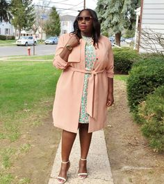 My Perfect Spring Plus Size Trench Coat :: Stylish Curves Plus Size Trench Coat, Plus Size Coats, Curvy Fashion, Plus Size Fashion, Girl Fashion, Runway Fashion, Divas, Beautiful Outfits, Cute Outfits