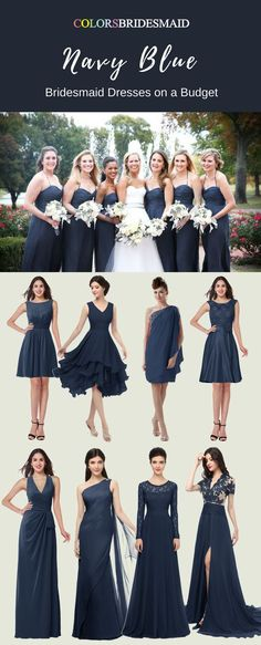 The Most Welcomed Bridesmaid Dresses in Navy Blue Color - ColorsBridesmaid  Budget Bridesmaid Dresses 5d888a17539d