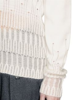 3.1 Phillip Lim Drop Needle Mohair Turtleneck Sweater in White | Lyst