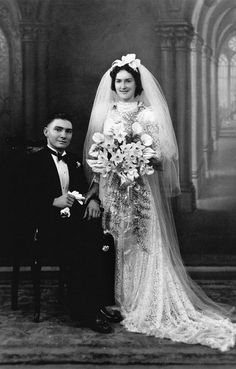 Cyril and Grace Jackson on their wedding day, 1930-1940   (by State Library of Queensland, Australia, via Flickr)