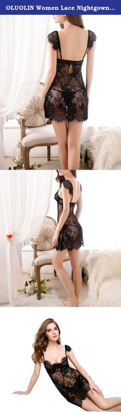OLUOLIN Women Lace Nightgowns Sexy Babydoll Lingerie Mini Dress Onesize Black. Specifications: Gender: Lady Material: Lace Style: Sexy & Fashion Wash: Hand wash, Do not scrub hard, hang dry Package include: 1 sexy lingerie dress + 1 G string .