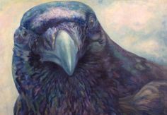 Fish Crow A large oil painting from one of my favorite models at the Peabody Natural History Museum.