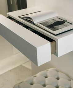 Foating Bedside Shelf With A Drawer In. Jennifer Young · Wall Mounted Shelf