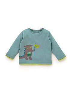 Pure Cotton Dragon Appliqué T-Shirt   M&S