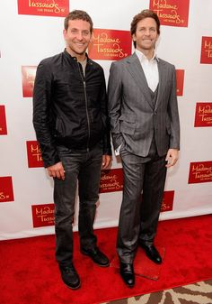Pin for Later: Celebrities Come Face to Face With Their Wax Figures! Bradley Cooper