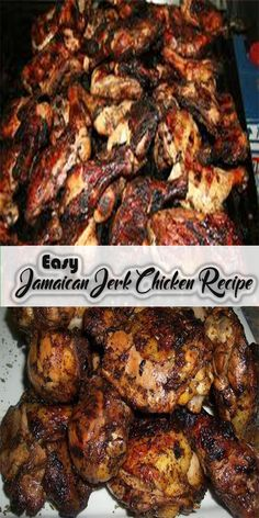Try this Easy Jamaican Jerk Chicken Recipe for a deliciously simple version of C. - Try this Easy Jamaican Jerk Chicken Recipe for a deliciously simple version of Caribbean style roast - Easy Jerk Chicken Recipe, Jerk Recipe, Jerk Chicken Wings, Easy Chicken Recipes, Roast Chicken, Jerk Chicken Marinade, Grilled Jerk Chicken, The Best Jerk Chicken Recipe, Island Chicken Recipe