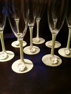 Top table wedding glasses