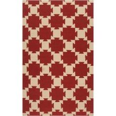 @Overstock - Hand-woven in wool, this rug features colors of burnt sienna, biscotti. With its unique design, this rug is perfect for your home.http://www.overstock.com/Home-Garden/Smithsonian-Hand-woven-Red-Anchor-Wool-Rug-5-x-8/6654738/product.html?CID=214117 Add to cart to see special price