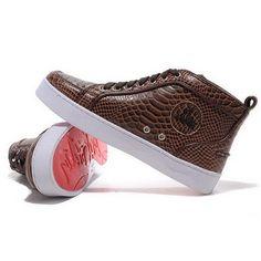 Christian Louboutin Louis Python Womens Sneakers Brown