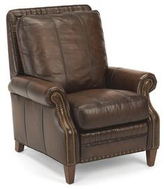 Flexsteel Latitudes-Daltry Transitional Power High Leg Recliner with Nailhead Trim - Powellu0027s Furniture - High Leg Recliner Fredericksburg Richmond ...  sc 1 st  Pinterest & Brown Leather Swivel Glider Recliner by Ashley Furniture Swivel ... islam-shia.org