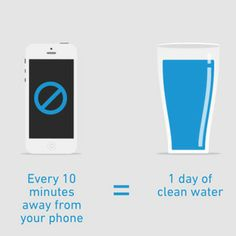 A really, really good reason to put down your phone. #WorldWaterDay