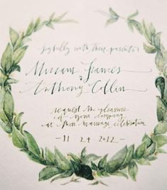 Olive branch wedding inspiration board filled with lush green wedding details and ideas.