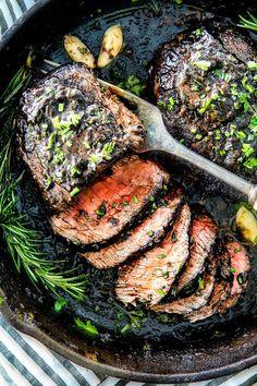 HOW TO MAKE THE BEST Pan Seared Steak (w/Balsamic Cream Sauce)