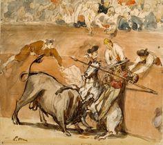 Bullfight by Édouard Manet. #art