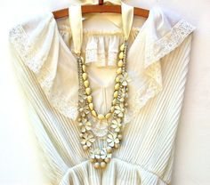 Etsy listing at https://www.etsy.com/listing/130594455/wedding-necklace-multi-strand-vintage