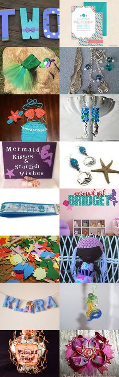 Mermaid Themed by Megan Yates on Etsy--Pinned+with+TreasuryPin.com