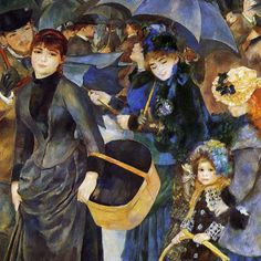 Love the dark colors and the umbrellas in this painting from French Impressionist Renoir ... looks like a rainy day in NOLA