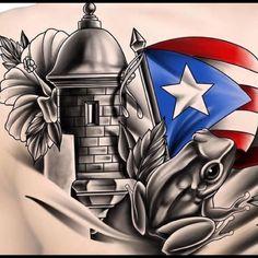 Made On Terra Flag of Puerto Rico Mens Tie Clip Tack Bar