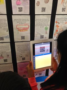 Student-Created Interactive QR Code Bulletin Boards: Math Word Problems and Inference Puzzles Teaching Technology, Educational Technology, Teaching Math, Teaching Ideas, Technology Lessons, Technology Integration, Math Resources, Math Activities, Library Activities