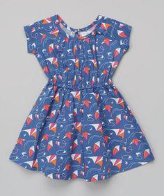 Blue Kite Cap-Sleeve Dress by Nohi Kids on #zulilyUK today!