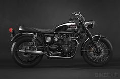 Classic Black Pearl Triumph Bonneville by Dime City Cycles | Gear X Head