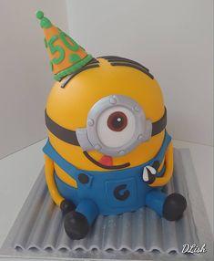 Minion on a hot tin roof! Cakes For Boys, Birthday Cakes, Minions, Tin, Tin Metal, Anniversary Cakes, Birthday Cake, Minion, Minion Stuff