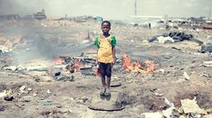 Jeremy Kaplan's captivating photo-essay of Agbogbloshie, Ghana, where most of the U.K's and U.S's e-waste is disposed. The town has been nicknamed Sodom and Gomorrah by locals who work in sorting materials, exposing themselves to the poisons and chemicals, just in order to make money. The e-waste from our country is ruining the environments of other developing countries.