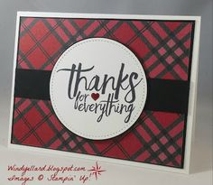 Windy's Wonderful Creations: PP320 Thanks for Everything!, Stampin' Up!, All Things Thanks, Warmth & Cheer DSP, Stitched framelits dies