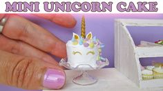 Mini Unicorn Cake, Polymer Clay Tutorial || Maive Ferrando