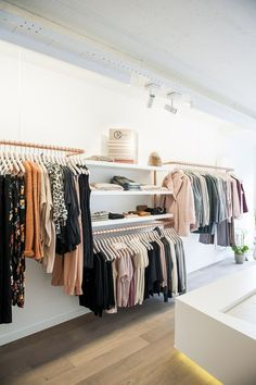 Light and airy boutique decor