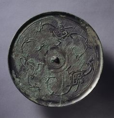 Mirror with Three Dragons, 3rd century BC China, Eastern Zhou dynasty (771-256 BC), Warring States period (475-221 BC)