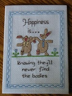 Bunnies Cross Stitch
