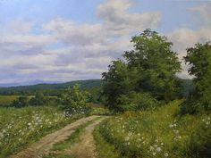 Summer Afternoon, Sudbury, Vermont by Andrew Orr Oil ~ 18 x 24