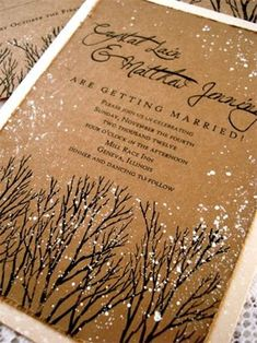 pretty pretty winter paper. winter wedding invitations