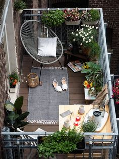 There are plenty of ways you can make the most of a small outdoor space, and make it just as lovely and inviting as any giant suburban backyard. Small Space Style: 10 Beautiful, Tiny Balconies to bring life to outdoor space. Greenery and plants.