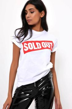 Sold out T-shirt featuring short sleeves, crew neck and a relaxed fit.Sold out T-shirtShort sleevesCrew neckRelaxed CottonModel wears: SModels height: inches Slogan Tee, Fashion Dresses, Crew Neck, Short Sleeves, Tees, Womens Fashion, Campaign, T Shirt, How To Wear