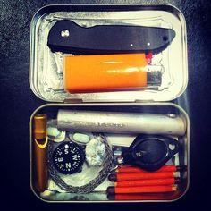 How to Build Your Own Altoids Tin Survival Kit:  Keywords: safety, DIY…