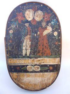 Pennsylvania German Brides Box rare folk art c.1830