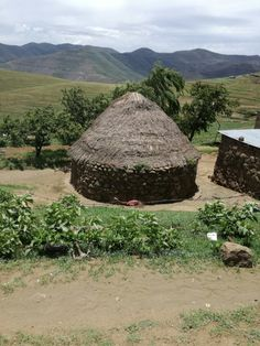 Hut in the Katse village-Lesotho, Africa.