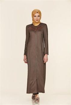 Simetrik Nervür Detaylı Omuz Nakış İşlemli Haki Pardesü High Neck Dress, Dresses, Fashion, Turtleneck Dress, Vestidos, Moda, La Mode, Fasion, Dress