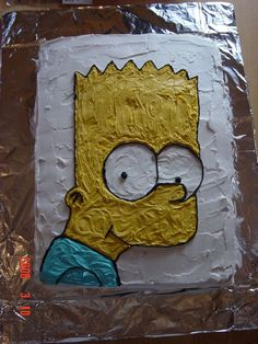 my bart simpson cake for my sons tenth birthday