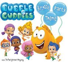 Bubble Guppies - birthday party idea blog
