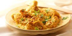 Recept van Kip in amandel-saffraansaus