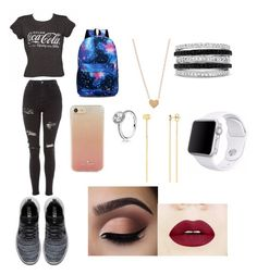 """Untitled #61"" by pisy88 on Polyvore featuring Topshop, NIKE, Kate Spade, Pandora, Effy Jewelry, Gucci and Apple"