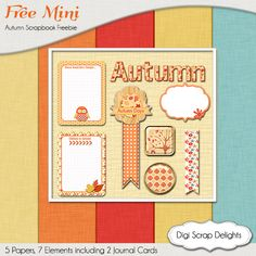 Autumn Digital Scrapbook Freebie fall
