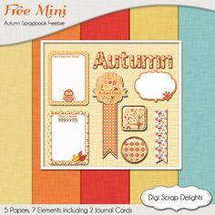Autumn Digital Scrapbook Freebie fall